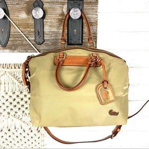 Dooney & Bourke Nylon tan satchel handbag